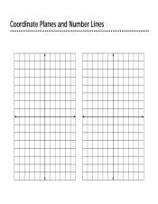 Coordinate Planes and Number Lines