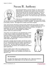 Learn about Susan B. Anthony by creating a mini-book