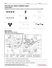 Create A Weather Map Worksheet.How Do You Read A Weather Map Teachervision