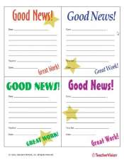 Good News Notes Behavior Management Tool