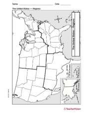 Map Of U S Regions Teachervision