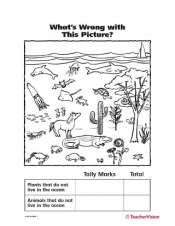 Matching Printable for Oceans Plants and Animals