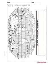 Latitude and longitude map geography printable 3rd 8th grade latitude and longitude map gumiabroncs Images