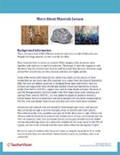 More About Minerals Background Information