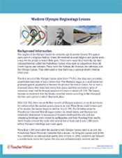 Modern Olympic Beginnings Background Information