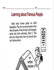 Learning About Famous People Biography Activity