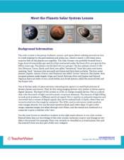 Meet the Planets Background Information Worksheet