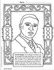Garrett Morgan Coloring Page - TeacherVision