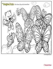 Magical Attic Misty Pig Butterflies Coloring Page