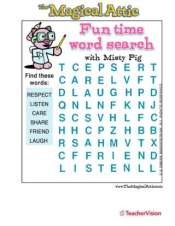Magical Attic Misty Pig Friendship Word Search