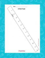 Printable 12 Inch Ruler Measurement 1st 5th Grade Teachervision