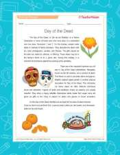 Day of the Dead Reading Packet and Vocab Activity