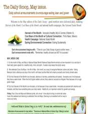 a newsletter with nutrition tips