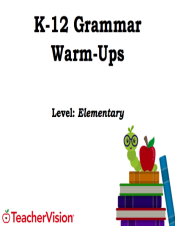 Elementary Grammar Warm-Up Packet