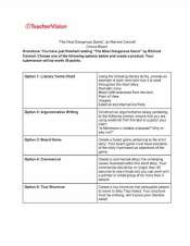Three choice boards to support middle school students to demonstrate reading comprehension