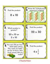 An interactive multiplication activity