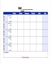 A unit planning template for teachers