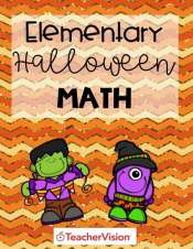 A packet of Halloween-themed math activities for elementary grades