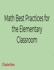 4 Best Practices for Elementary Math