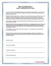 Morning Meditation Activity for the Classroom